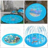 Yaz 170 cm Açık Oyun Mat Çim Plaj Deniz Hayvan Şişme Su Sprey Çocuk Yağmurlama Pad Oyunu Yastık Oyuncak