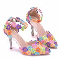 Sandals Party shoes with details in various colors, different slippers, rhinestones, bow tie, flower, high heels, wedding party, bridesmaids JWIL