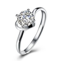 Cluster Rings SILVERHOO 925 Sterling Silver Opening Adjustable For Women Romantic Heart-Shaped Cubic Zircon Wedding Ring Fine Jewelry