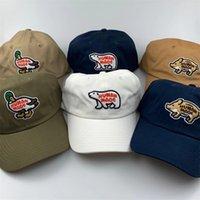 İnsan Yapımı Polar Bear Nakış Beyzbol Şapkası Baba Şapkalar Kadın Erkek Yaz Güneş Plaj Şapka Bayanlar Kamyoncu Kapaklar Tasarımcı Visor Açık Yaz