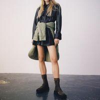 Hadara Turn Down Collar Black Blouses Women Fashion PU Leather Shirts Elegant Pockets Long Sleeve Tops Female Ladies JL Women's &