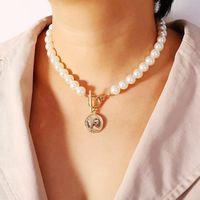 Имитация жемчуга длинного ожерелья ожерелье одно- и двухслойные шарики цепные подвески ожерелья украшенные аксессуары