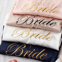 Wedding Customized Bathrobes Bride Bridesmaid Womens Sleepwears Robes Dressing Gown Sexy Bathrobe Night Shirts Short Sleepwear Kimono
