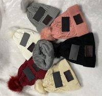 Kış Bayan Tasarımcı Şapka Moda Erkekler Beanie Bonnet Bayanlar Örme Kapaklar Saç Topu Açık Spor Kayak Şapkalar