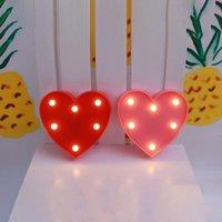 3D 사랑 하트 밤 빛 경량 LED 조명 낭만적 발렌타인 데이 크리스마스 아이 선물에 대 한 어린이 침실 램프 크리 에이 티브 실내 조명