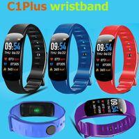 C1Plus Smart Bracelet IP67 Wristbands Color Screen Bluetooth Call Fitness Tracker Real Heart Rate Blood Pressure Waterproof Sport Watch vs M6 M5 M4