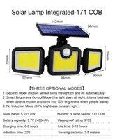 Solar Lamps IP65 171LED Light Outdoor Lamp Powered Sunlight 3 Modes PIR Motion Sensor For Garden Decoration Wall Street