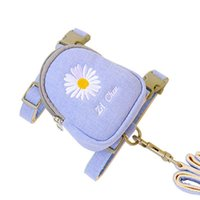 Dog Collars & Leashes Cat Leash Small And Medium Pet Embroidered Backpack Chest Strap Go Out To Store Garbage Bags, Etc.