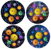 Ocho Planeta Fidget Toys Puser Pioneer Educación Earra Empresa de descompresión Presionando Presión de Dedos Burbuja Niños Baño Juguete DHL Barco 2021 FY2784