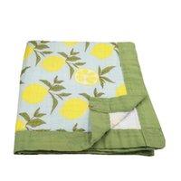 LASHGHG четыре слоя 70% бамбук 30% хлопок Муслин детское одеяло пелена для родившихся одеяла.