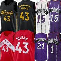 43 파스칼 저지 Siakam Jersey Mesh Vince 15 Carter Jersey Retro Mesh Marcus 21 Camby Tracy 1 McGrady Basketball Jerseys