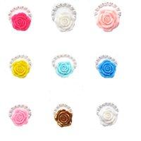 10Colors Baby Girls Flower Bracelet Girl 8mm Pearl Daughter Birthday Present Chunky Beaded Strand Bracelets Jewelry Beaded, Strands