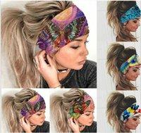 Style cross-border elastic sports Hair Accessories wide headband version sweat-absorbent ladies headwear