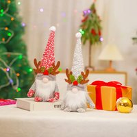 2022 Christmas decorations Red gray plush antlers Rudolph doll Shopping mall window decorations GWB10353