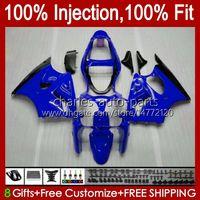 Spritzgusskörper für Kawasaki Ninja ZX-6R ZX600 ZX636 ZX-600 Körper 37HC.102 Full Gloss Blue ZX 600 CC 6 R ZX 6R ZX 636 600cc ZX6R 00 01 02 ZX-636 2000 2001 2002 OEM-Verkleidung