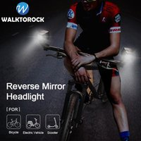 Bike Lights 2pcs Rear View Mirror Headlight For Bicycle Electric Vehicle Scooter Front USB Rechargeable LED Light Accessories