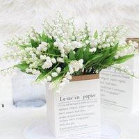 Искусственная цветочная лилия настоящая сенсорная ветер Cime Orchid для домашнего свадебного сада украшения поддельных декоративных цветов венки NHD6937
