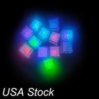 Neuheit Beleuchtung Mini LED Eiswürfel Multi Farbe Wechseln Flash Lights Kristallwürfel Für Party Hochzeit Event Bars Chirstmas Halloween Dekorationen USA Lagerbestand