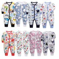 Jumpsuits 0-24M Born Kid Baby Boy Girl Clothes Autumn Winter Long Sleeve Print Romper Cute Sweet Cotton Jumpsuit Bron Clothing