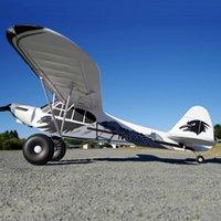 FMS RC Airplane 1700mm 1.7m PA-18 J3 Piper Super Cub Trainer principiante con reflex Gyro PNP Modello Aereo Aereo Galleggianti opzionali Y200428
