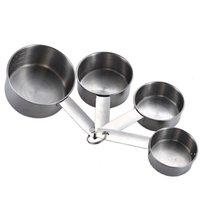 4 adet Paslanmaz Çelik Ölçüm Bardak Aracı İstiflenebilir Kahve Süt Tozu Baharat Ölçümü Kaşık Setleri Ev Mutfak Pişirme Araçları DWB6775