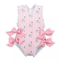 Baby Mädchen Schöne Badeanzüge Anzüge Schöne Eisbär Giraffe Badeanzüge Kind Fashion Swimwear 663 x2
