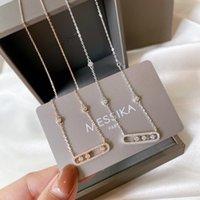 Luxo Designer Jóias Mulheres Pingente Colares Messika Marca Move Clássico Charme Sterling Silver Braccialetto di Lusso Caixa original Pulseira