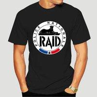 Erkek T-Shirt RAID Fransız Sayaç Terörizm Ünitesi Özel Kuvvet Askeri Shubuzhi Moda Düz Renk Erkekler Kolsuz T Gömlek