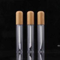 Portable 5ML Vintage Bamboo Lèvre Bouteille d'emballage à lèvres à lèvres rechargeable Lèvres Baume Tube vide Conteneur cosmétique Emballage LipBrush Tubes DIY