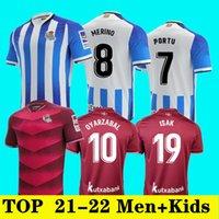 21 22 Rey Gerçek Sociedad Futbol Formaları 2021 2022 Oyarzabal ISAK Portu X Prieto Silva Odegaard Juanmi Camiseta De Futbol Kraliyet Topluluğu Erkekler + Çocuklar Futbol Gömlek Kitleri