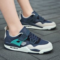 Sneakers boys' sports shoes summer new Korean air cushion middle school students' hollow running shoes children's shoes