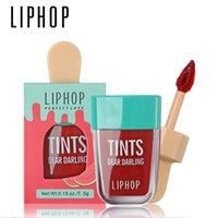 لمعان الشفاه 1PCS Liphop طويل الأمد تينت 6 ألوان أحمر الشفاه السائل باتوم روج ليفريس labial ماتي مثير الوشم مستحضرات التجميل