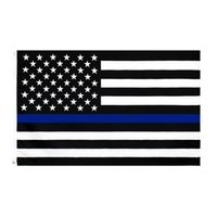 3x5FTs 90cmx150 cm Gesetz Vollstreckungsbeauftragte US-amerikanische Polizei dünne blaue Linie Flaggen Blueline USA Polizei-Flaggen CYZ3095