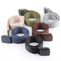 Fashion Canvas Belt Men Women Unisex Outdoor Tactical Plastic Buckle Solid Hiking Waistband Casual