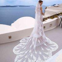 Veil de mariage de mariage sur mesure 2020 NOUVEAU voile de mariée de 3/4/5 mètres avec accessoires de mariage chaud