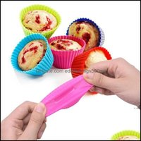Mods Bakeware Kitchen, Dining Bar Home & Garden12Pcs Sile Mold Round Muffin Cupcake Baking Molds Reusable Diy Cake Decorating Tools Wedding