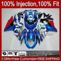 Injektion för SUZUKI GSXR-750 GSXR600 Blue Glossy New GSXR 600 750 CC 10HC.3 GSXR750 11 12 13 14 2015 2016 2017 K11 GSXR-600 600CC 750cc 2011 2012 2013 2014 15 16 17 FAIRING