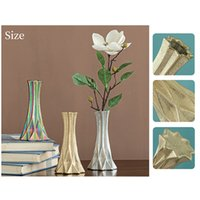 Ceramic geometric origami vase creative friends gifts can be family party decoration