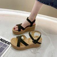 Dress Shoes Summer Fashion 2021 Wedges Sandals For Women Casual Open Toe Platforms Beach High Heel Tenis Feminino