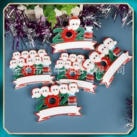Christmas 2021 Christmas Tree Pendant family DIY handwritten mask Snowman Christmas tree pendant resin Pendant YF3P