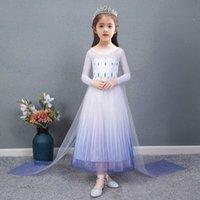 Ледяной и снег 2 Принцесса Айши Летние Детская Юбка Одежда Айша Платье Girl6kau