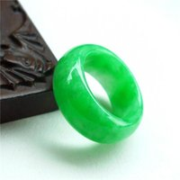 Cluster Rings 100% Natural Jadeite Ring Men Women Emerald Jades Stone Fashion Jewelry Accessories Green Certified Jade Male Gifts