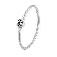 925 Sterling Silver BRACELET Heart stree Clasp for Pandora Charm Bracelets with Original box Women Wedding Jewelry