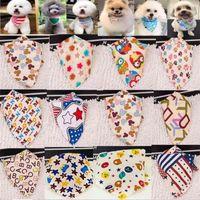 100pcs lot wholesale New arrival Mix 60 Colors Dog Puppy Pet bandana Collar cotton bandanas Pet tie Grooming Products SP01 201106