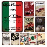 Vintage Parking Seulement des métal panneau d'étain rouillé alfa romeo affiche voiture affiche métal signes rétro garage homme cave home décor mur autocollants