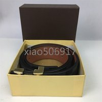 VVBest- selling High Quality Leather Belt Men And Women Gold ...