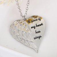 천사 날개 날개 쇄골 체인 사랑 편지 목걸이