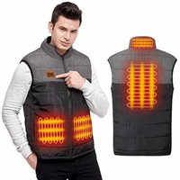 Heated Vest Jacket Usb Men Winter Electrical Sleevless Outdoor Fishing Hunting Waistcoat Hiking #3 Men's Vests