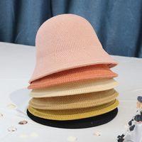 Bucket Cappelli Donne Summer Beach Vacanze Esterni Coreano Popolare All-Match Vintage Signore Sole Protezione del sole Cappello Semplice Bella Bel Ben