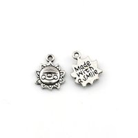 200Pcs lot Antique Silver Alloy Smiley Design Charm Pendants For Jewelry Making Bracelet Necklace Findings 12x15.5mm A-601